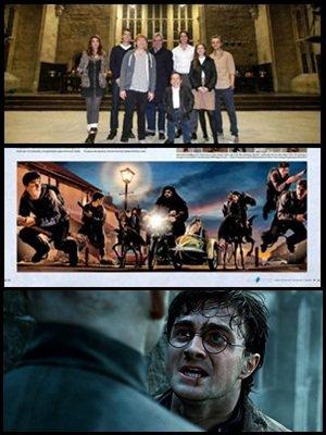"""Images et videos du groupe Tchat pour les studios de tournage ( + d'infos sur l'article ), des scans du nouveau livre """" Harry Potter : Page to screen """" et extrait d'un des bonus du dvd bluray de la deuxième partie!"""