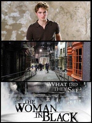 """Des photoshoot de Robert Pattinson alias Cédric Digorry dans """" Harry Potter et la Coupe de Feu """", des infos sur le circuit dans les studios de tournage Harry Potter à Londres disponible, et un nouveau poster de """" The Woman in Black """"."""