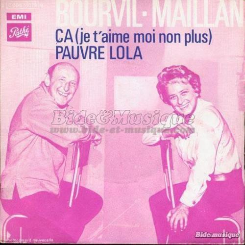 bourvil et Jacqueline Maillan