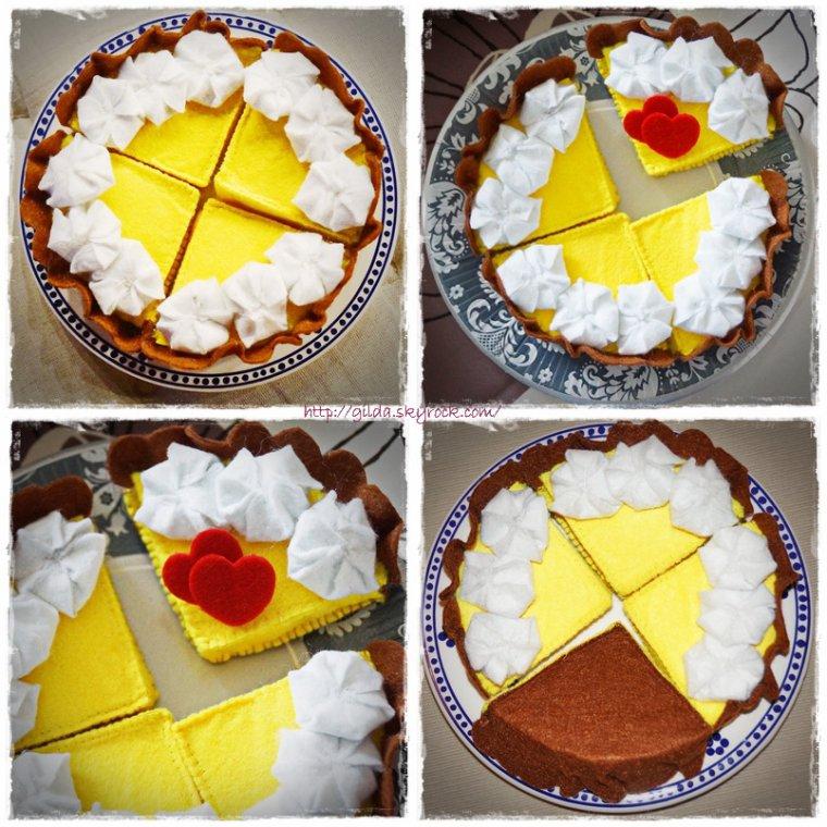 Une tarte au citron....
