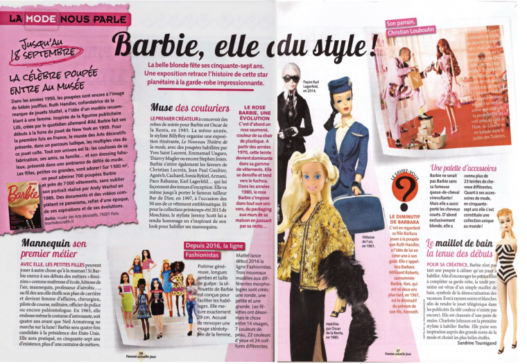 """Barbie """"La mode vous parle"""""""