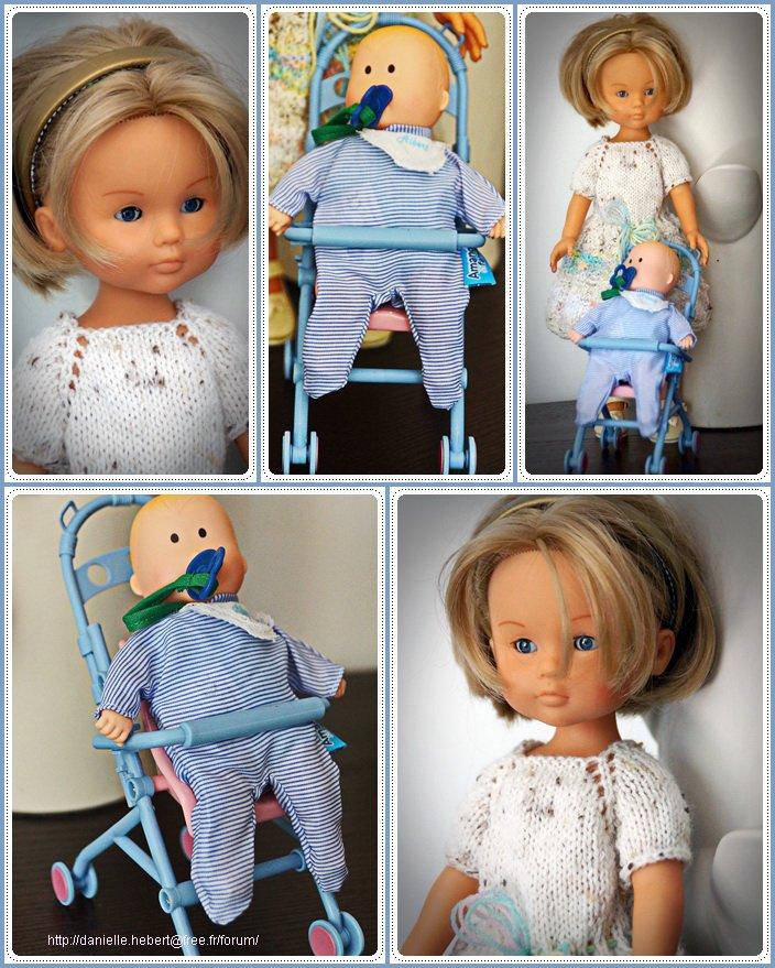 Marie joue à la poupée!
