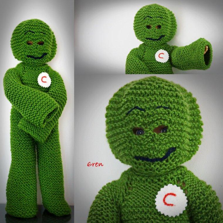 Un bonhomme tout vert!