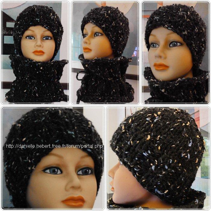 Un autre snood, un autre bonnet (Couleur noire)...