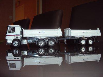 MB Actros 6X4 Tribenne Meiller avec Remorque. EUROVIA