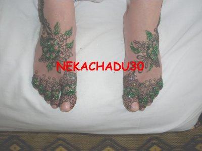 hénné asma pied