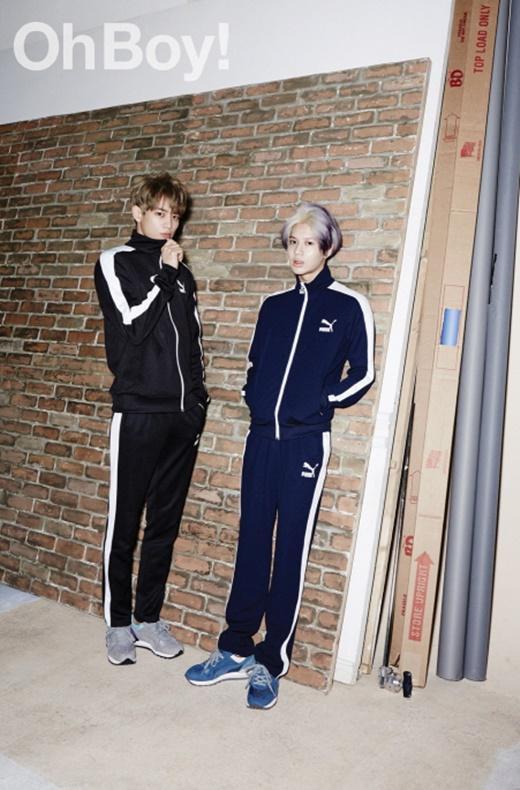 Minho & TaeMin pour le magasin 'OhBoy' de mai. [ 2MIN ]