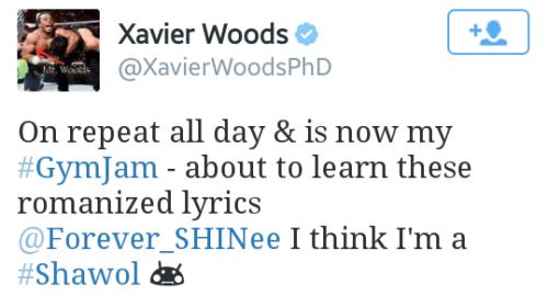 Xavier Woods. [ Shawol & Twitter ]