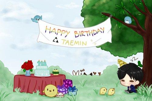 Happy Birthday Lee TaeMin. [ Fanart par Pei ]