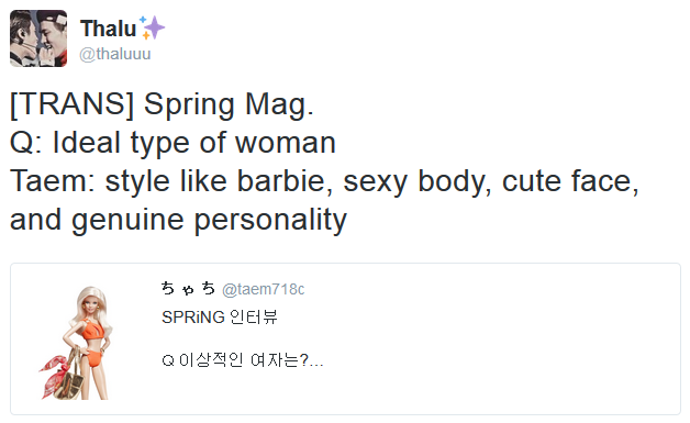 Ideal type. [ Interview Spring Magazine ]