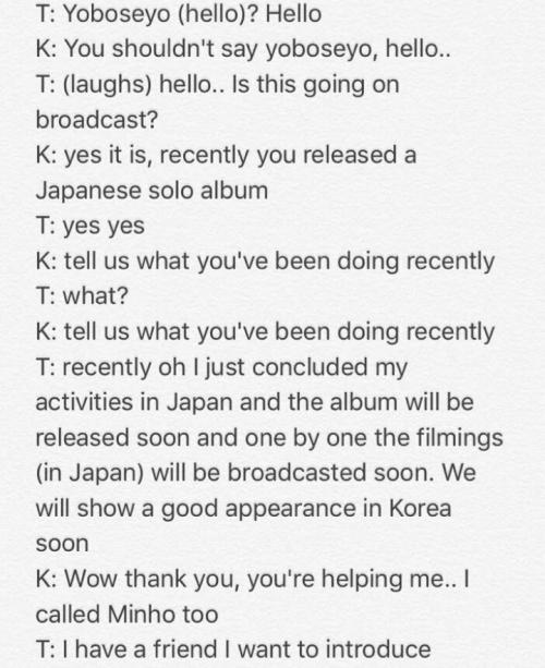 Key parle avec TaeMin feat Moonkyu des HotShot. [ Live Show on Elle facebook ]