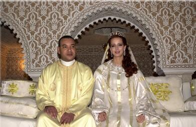mariage du roi du maroc smr mohamed 6 vi avec lella salma bennani o t. Black Bedroom Furniture Sets. Home Design Ideas