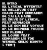 TRACKLIST ATTENTAT LYRICAL