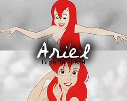 Zoom personnage: Ariel, la petite sirène.