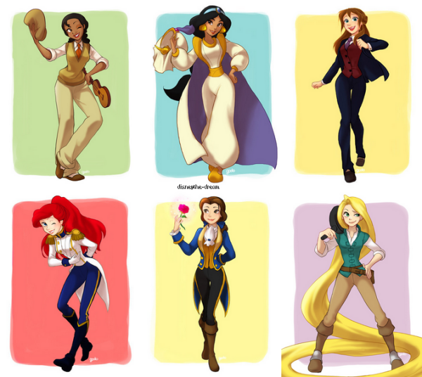 Nos princesses ont enfilés le costume de leurs princes !