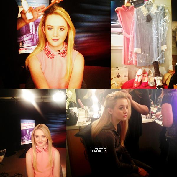 Kathryn a réalisé une interview pour faire la promo de Paranormal Activity 4.