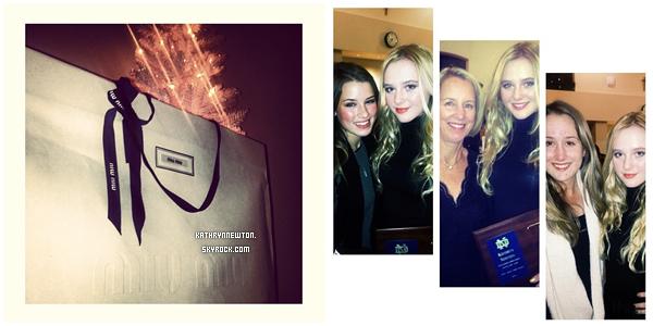 Kathryn était à une soirée organisée par Miu Miu à Los Angeles le 10 décembre 2013 + Twitter Time.