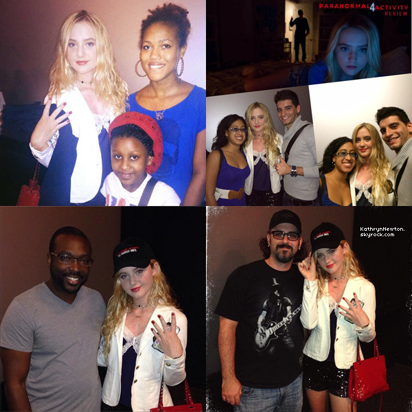 Kathryn était à la première de Paranormal Activity 5. Elle a gentillement posé avec ses fans.