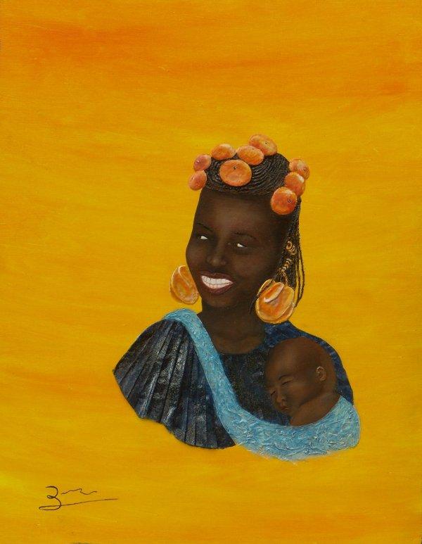 Kényane à l'enfant