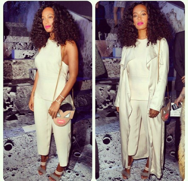 Solange Knowles a Paris a la fashion week de H&m