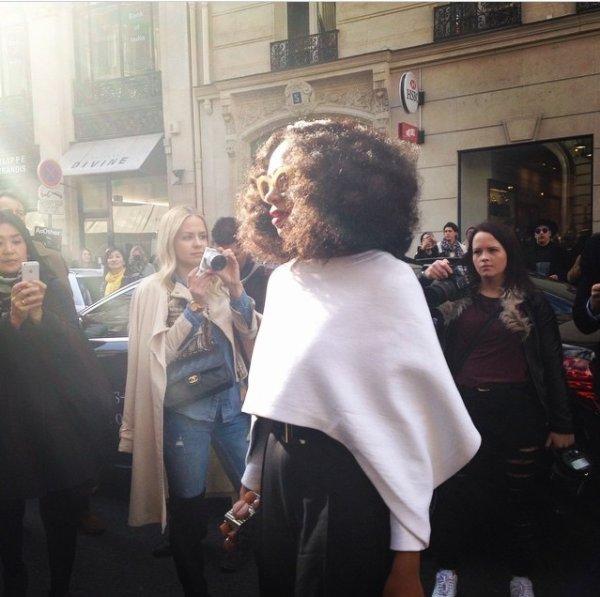 Solange Knowles tendance à Paris lors de la fashion week