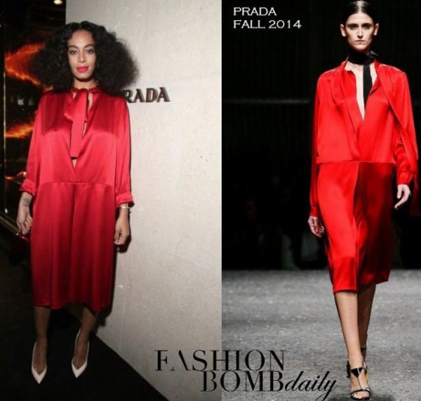 Solange Knowles en Prada a paris