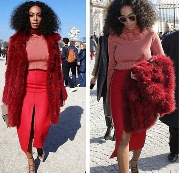Solange Knowles un Ovni a la fashion week de paris!