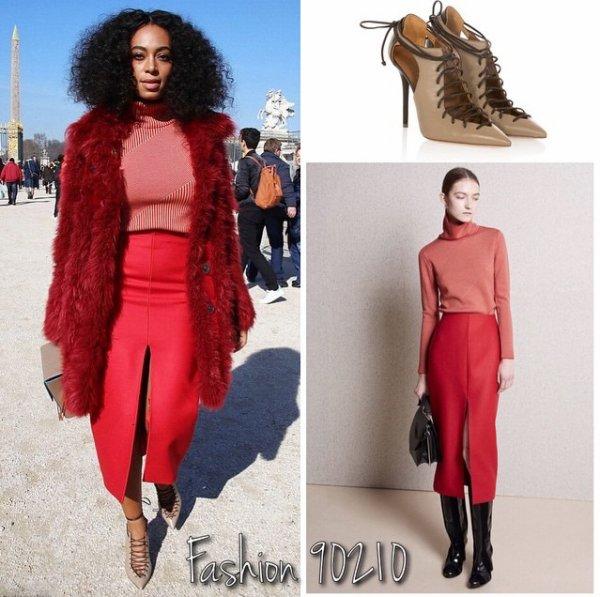 Solange Knowles un Ovni a la fashion week de paris!