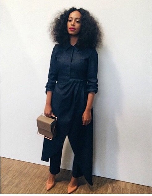 Solange knowles au marathon de la fashion week a paris