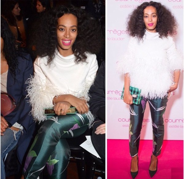 Solange Knowles a Paris fashion week!