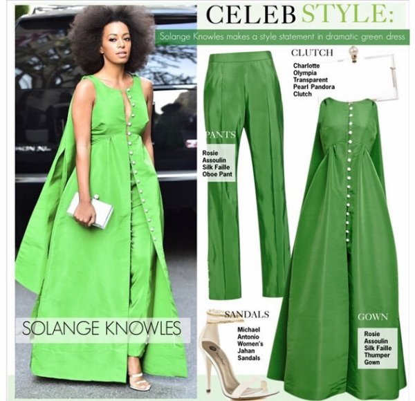 Solange knowles a New York :détail de la robe