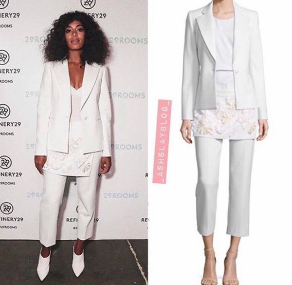 Solange Knowles lors de la fashion week a New York