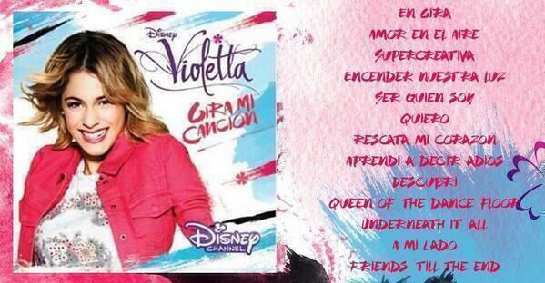 "les chansons du cd ""Gira mi cancion"" de violetta 3"