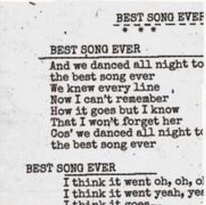 We danced all night to the best song ever (2013)