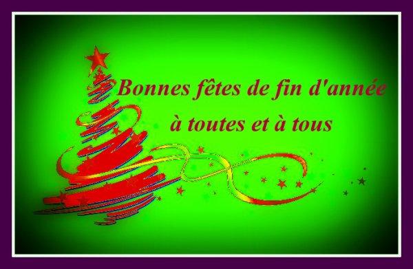 Bonnes fêtes de fin d'année à tout mes amis (es) amusez vous bien !