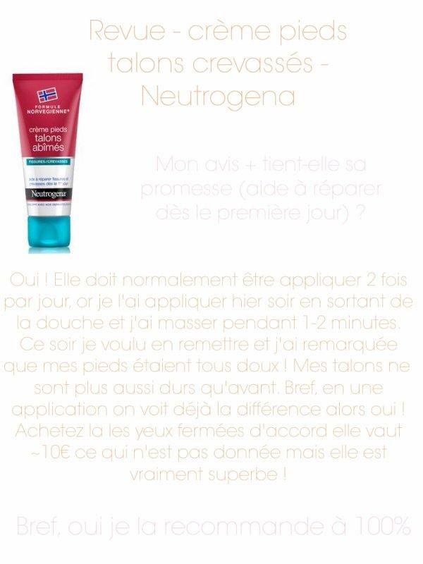 Neutrogena - crème pieds talon crevassés