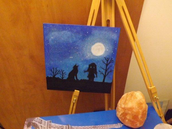 Peinture acrylique tout juste fini <3