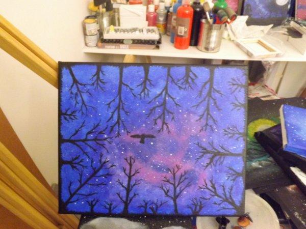 <3 Peinture acrylique sur toile 24x30 <3