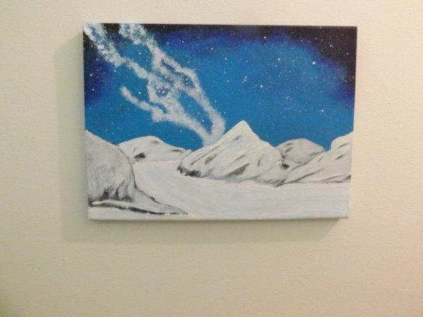 Paysage montagne et neige