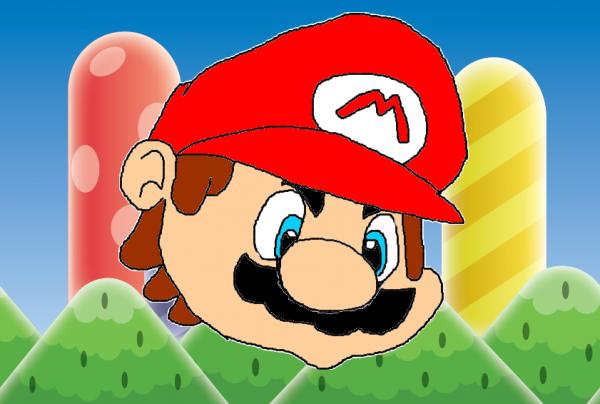 Mon premier dessin de Mario.