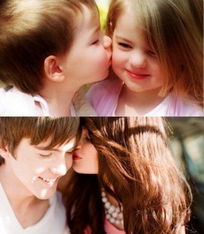 L'amour c'est pour tout le monde,petits et grands, même pour les adolescents..