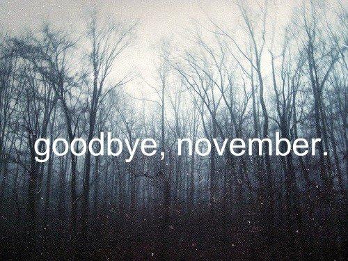 Au revoir Novembre, bonjour Décembre.