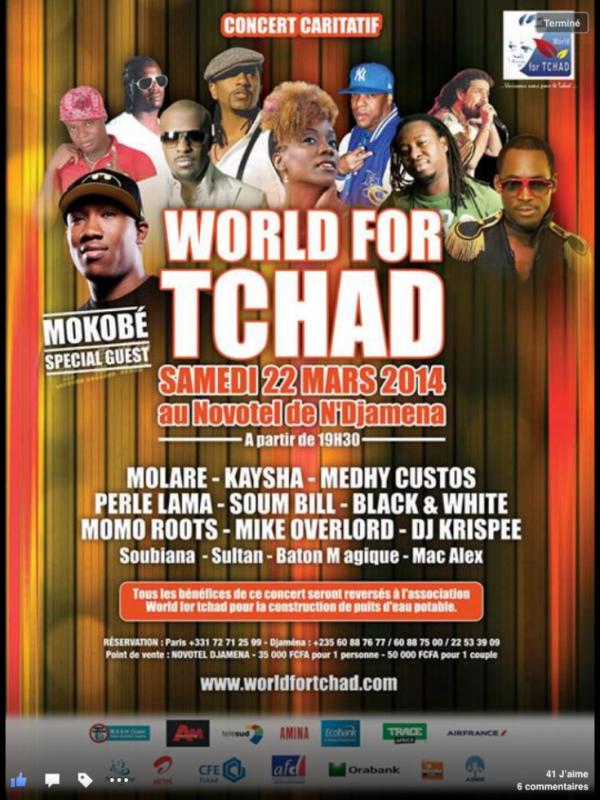 L'affiche du concert carritatif World For Chad