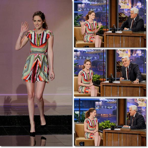 "Kristen Stewart au Talk show Tonight ""Jay Leno "" le 5 Novembre"