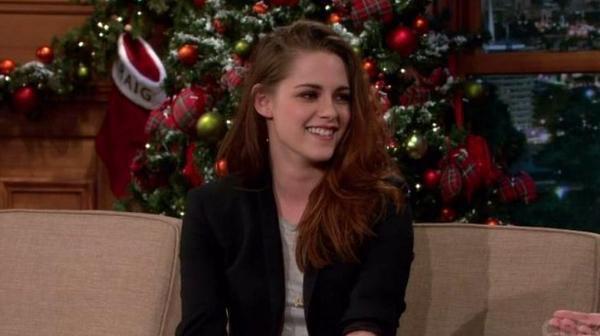 Kristen Stewart au Late Night Show le 10 Décembre
