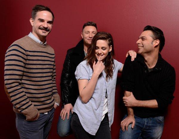 Kristen Stewart, Peter Sattler, Peyman Mooadi & Lane Garrison pour la Promotion de CampXRay le nouveau film de KStew