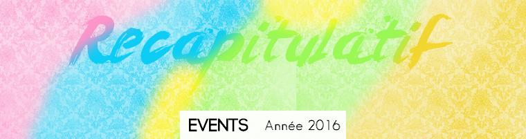 Event | Récapitulatif de l'année 2016
