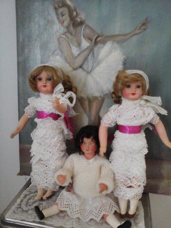 Mes deux bobines de dentelles SFBJ et leur soeur Petit Colin