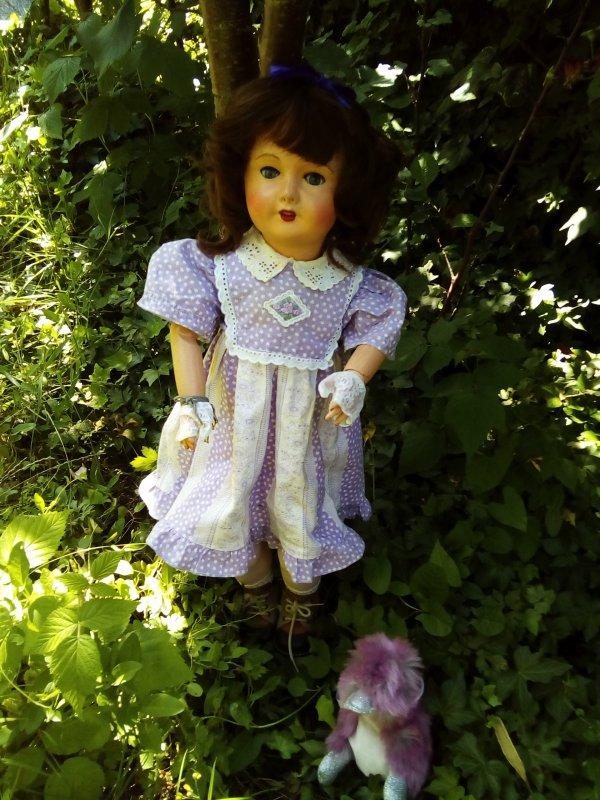 Louise au jardin !