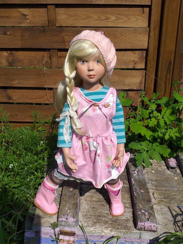 Robe roses à la licorne pour Violet..